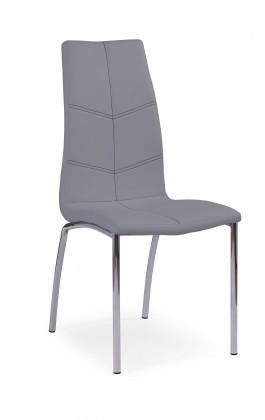 Stolička K114 - Jedálenská stolička (sivá, strieborná)