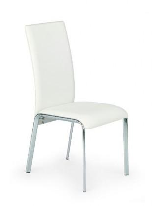 Stolička K135  (eco koža biela, chróm)
