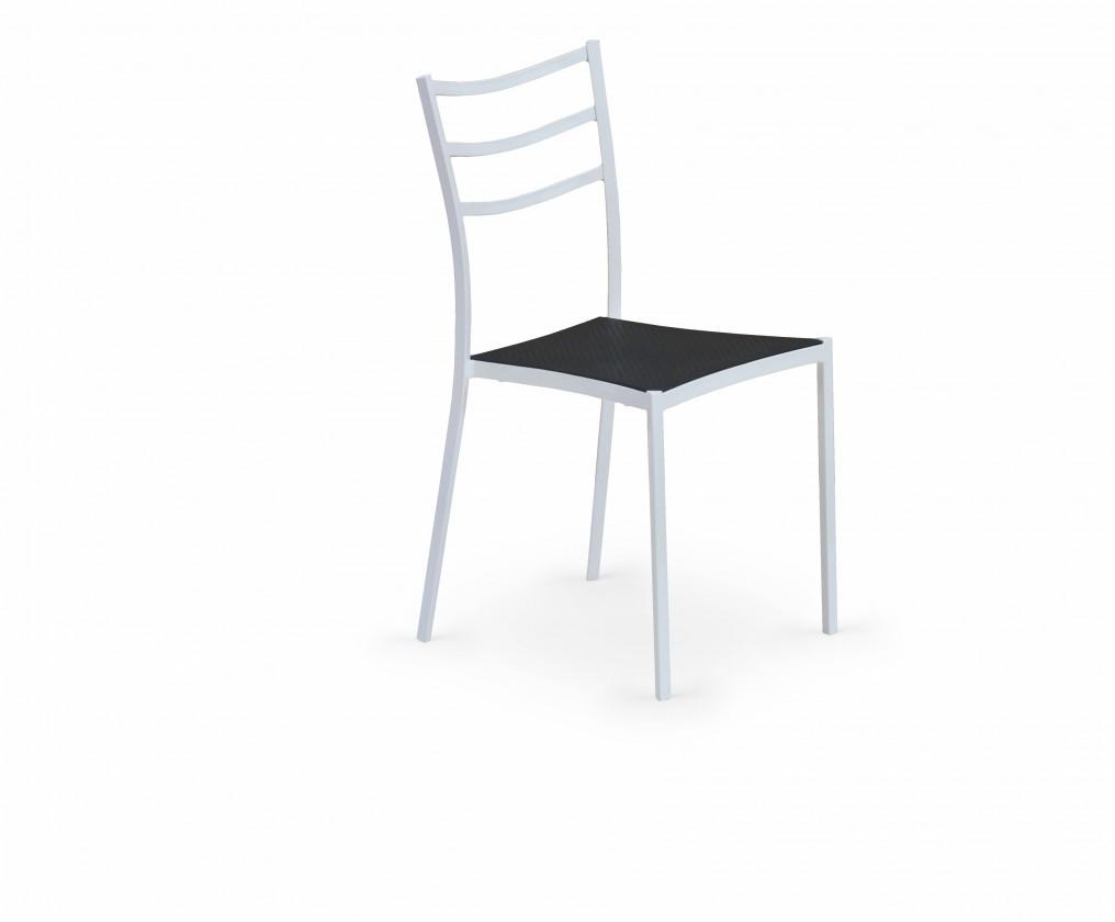 Stolička K159  (čierna, biela)
