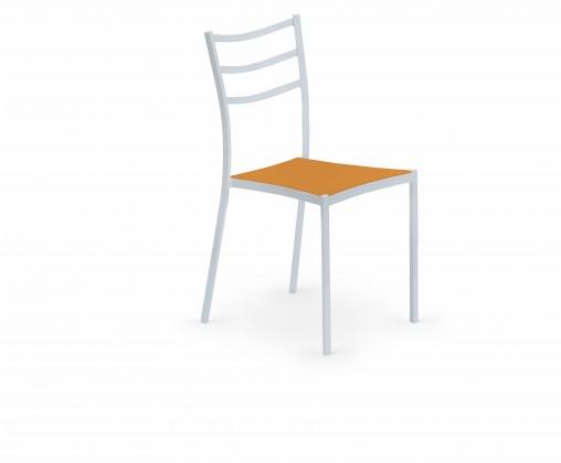 Stolička K159  (oranžová, biela)