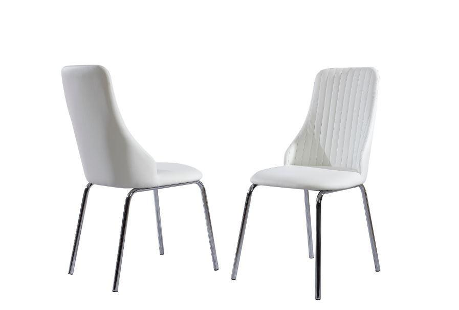Stolička K172  (eco koža biela, chróm)