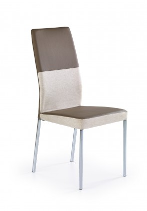 Stolička K173  (eco koža béžovo-svetle hnedá, chróm)