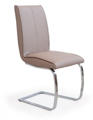 Stolička K177  (eco koža béžová, chróm)