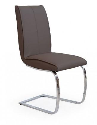 Stolička K177  (eco koža hnedá, chróm)