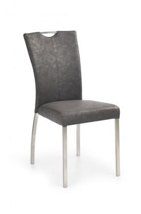 Stolička K178  (eko koža sivá,ocel)