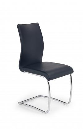 Stolička K180 - Jedálenská stolička (čierna, strieborná)