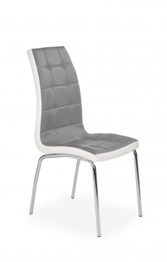 Stolička K186 - Jedálenská stolička (sivo-biela, strieborná)