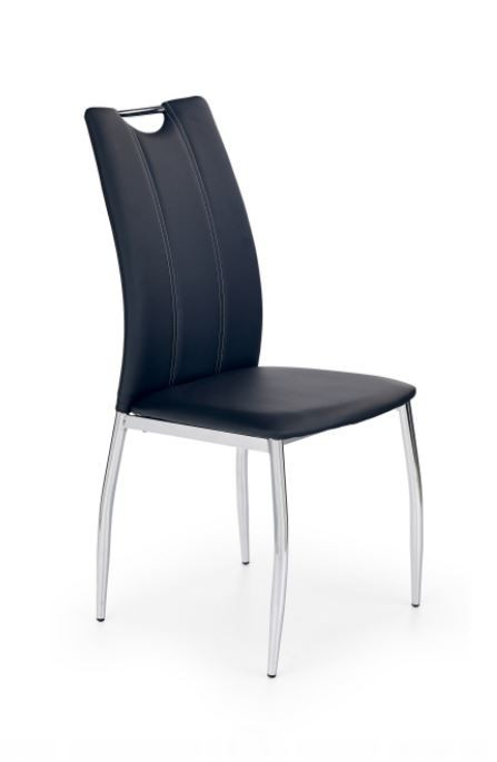 Stolička K187 (eco koža čierna, chróm)