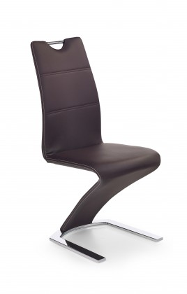 Stolička K188 (eco koža hnedá, chróm)