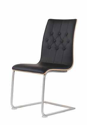 Stolička K190  (nerez,eko koža,lamino)