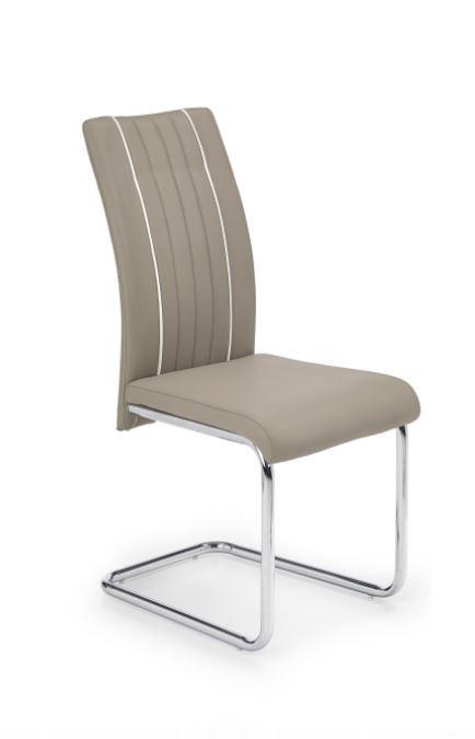 Stolička K193  (eco koža béžová, chróm)