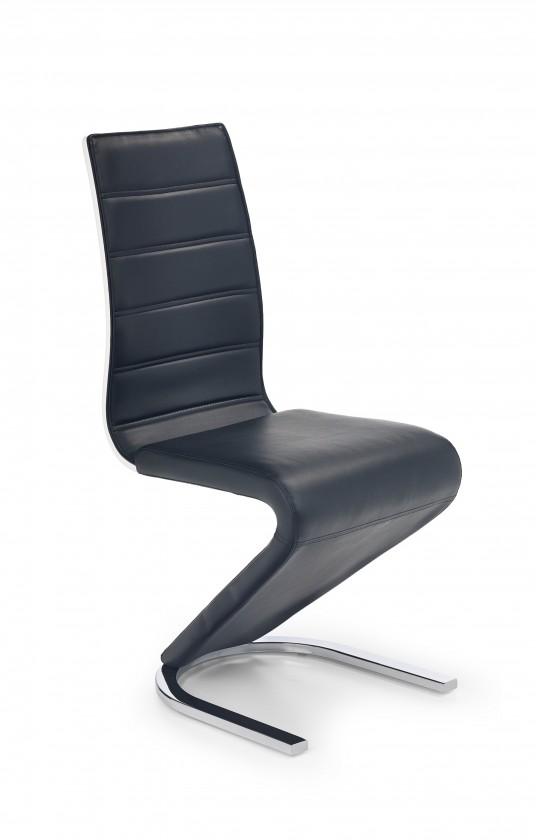 Stolička K194 (eco koža čierna, biela, chróm)