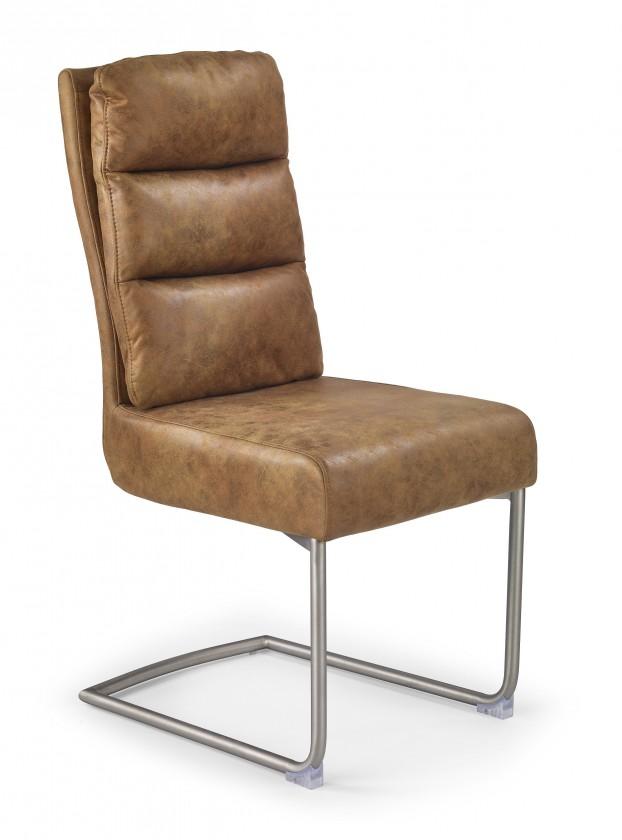 Stolička K207 - Jedálenská stolička (hnedá, strieborná)