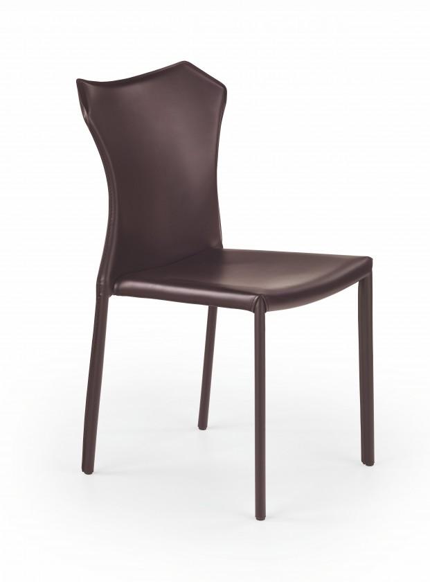 Stolička K208 - Jedálenská stolička (tmavo hnedá)
