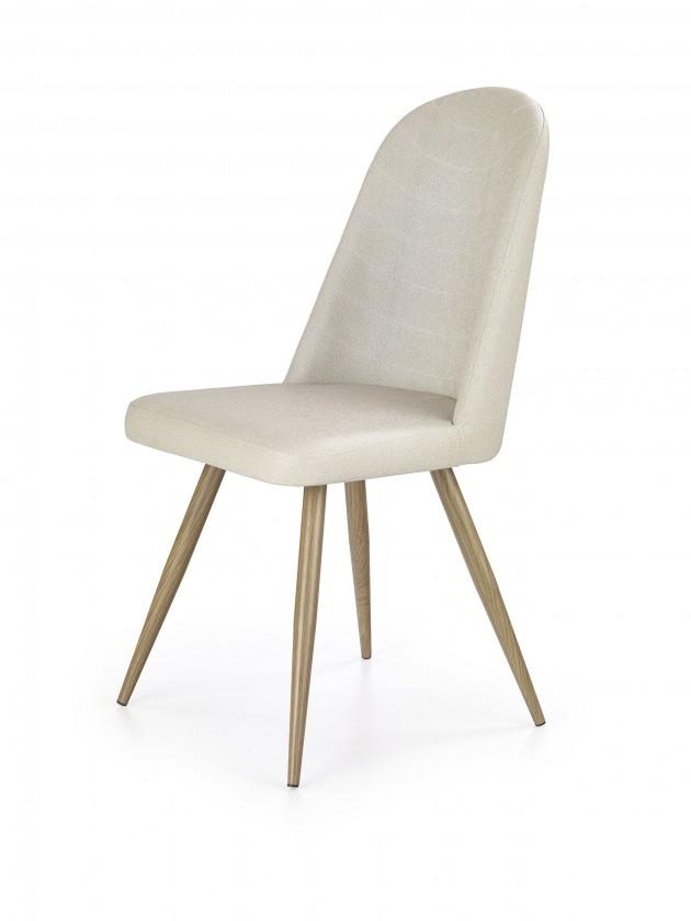 Stolička K214 - Jedálenská stolička (tmavo krémová, dub medový)