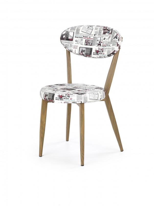 Stolička K215 - Jedálenská stolička (potlač, dub medový)