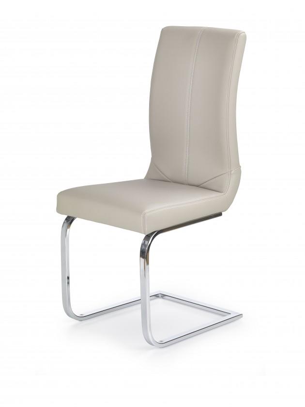 Stolička K219 - Jedálenská stolička (cappuccino, strieborná)