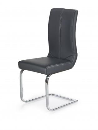 Stolička K219 - Jedálenská stolička (čierna, strieborná)
