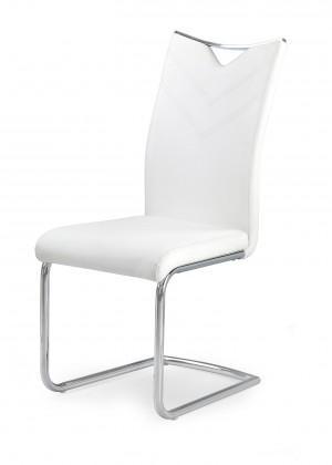 Stolička K224 - Jedálenská stolička (biela, strieborná)