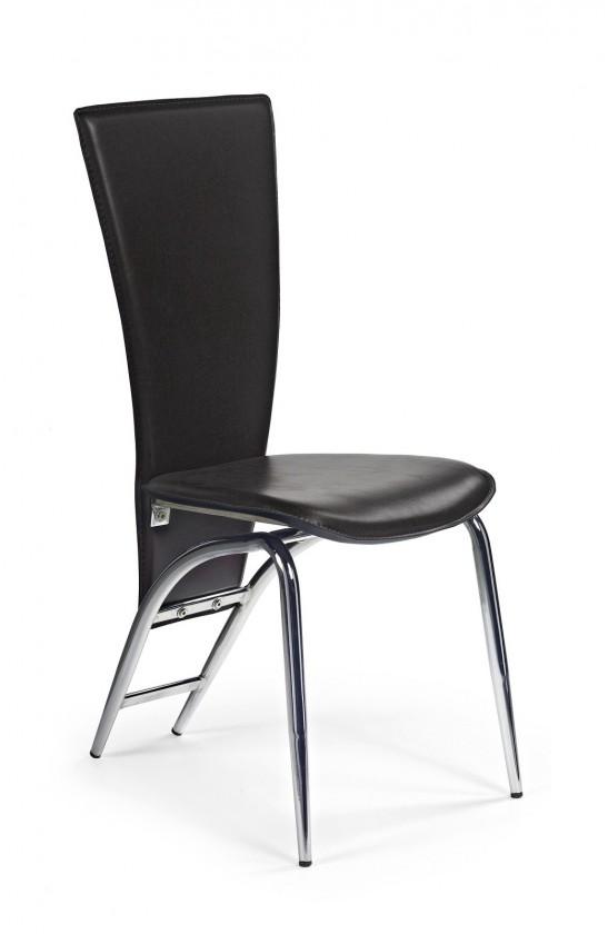 Stolička K46  (eco koža čierna, chróm)