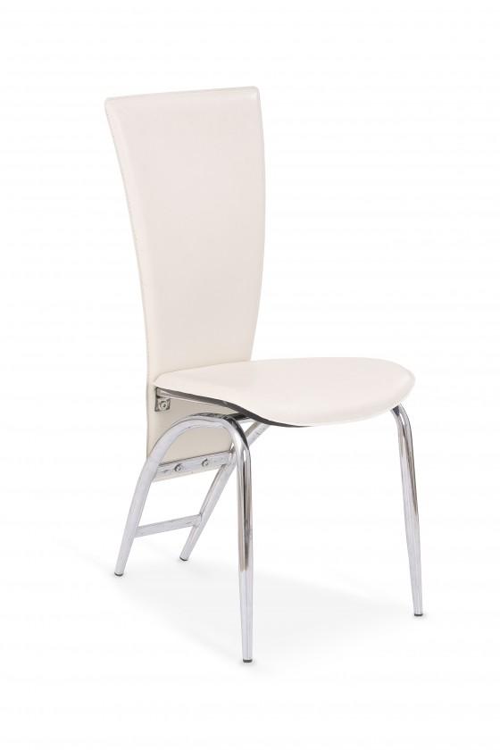 Stolička K46 (eco koža krémová, chróm)