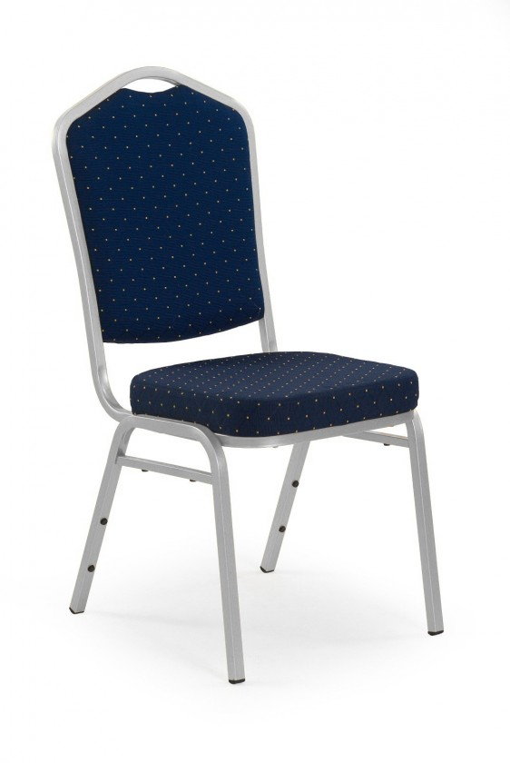 Stolička K66S  (strieborná, modrá)