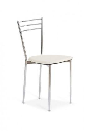 Stolička K7 - Židle chrom, sedák béžová
