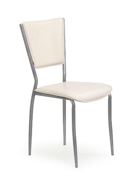 Stolička K72M  (eco koža krémová, sivá)