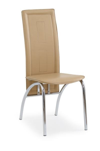 Stolička K75  (svetle hnedá, chróm)