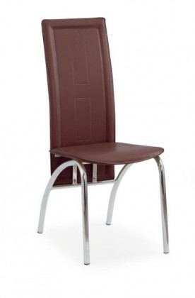 Stolička K75  (tmavo hnedá, chróm)
