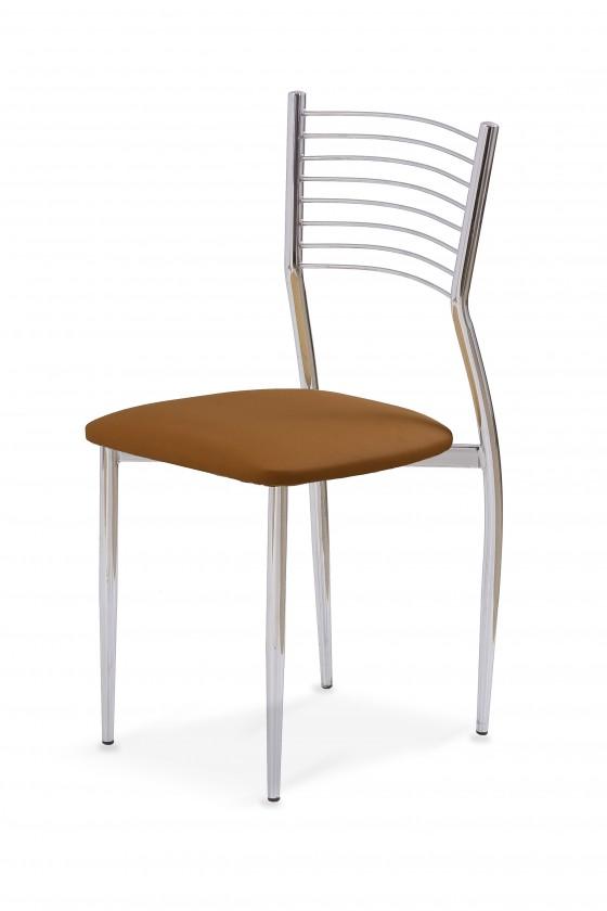 Stolička K9  (chróm,hnedá)