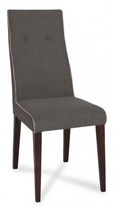 Stolička Kanita - Jedálenská stolička (wenge/tm.sivá/linka sv.sivá)