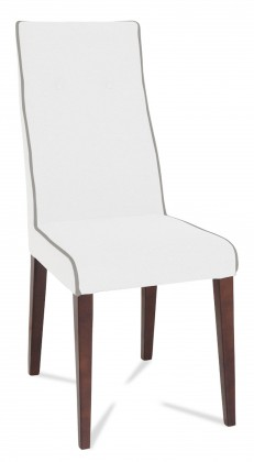 Stolička Kanita (wenge/eko kože vienna biela/linka sivá)