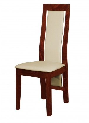 Stolička Kanzas - jedálenská stolička (drevo - sołtysiak/poťah - syntetická koža)
