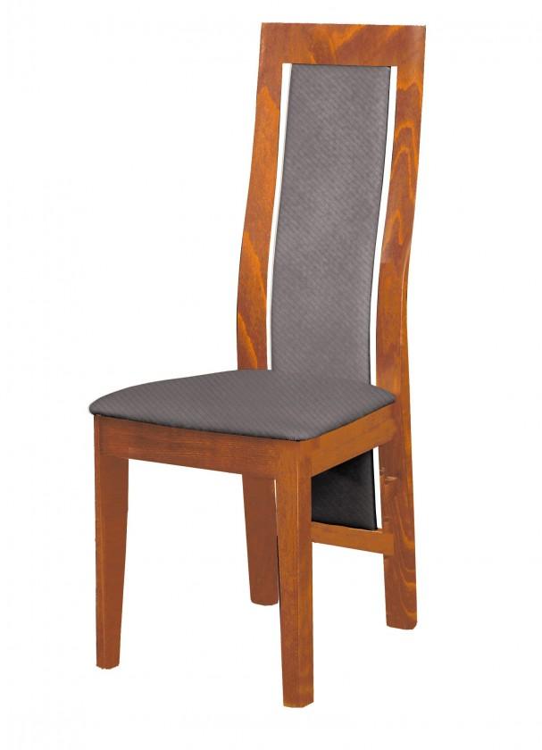 Stolička Kanzas - jedálenská stolička (drevo - svetlý orech/poťah - látka)
