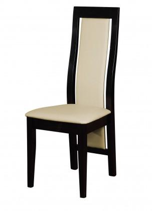 Stolička Kanzas - jedálenská stolička (drevo - wenge/poťah - syntetická koža)