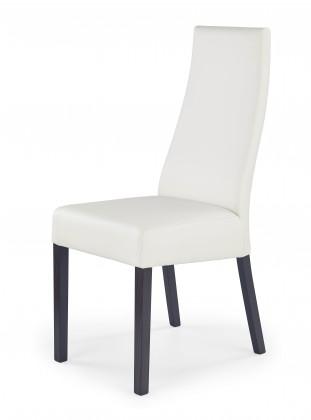 Stolička Kordian - Jedálenská stolička (biela, wenge)