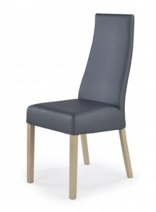 Stolička Kordian - Jedálenská stolička (sivá, dub sonoma)