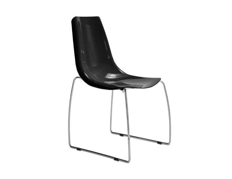 Stolička LYNEA-T (chrom + čierna)
