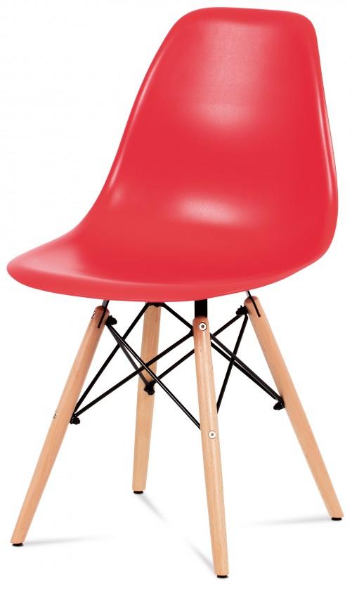Stolička Mila - Jedálenská stolička červená
