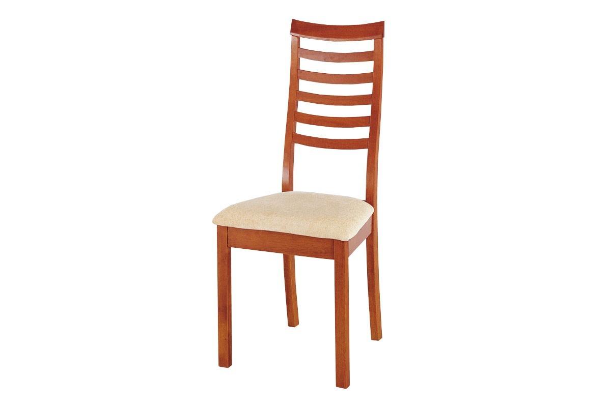 Stolička NACIA(kaučukovník, morenie čerešňa,poťah krémový)