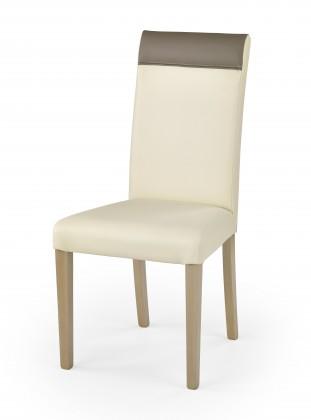Stolička Norbert - Jedálenská stolička (krémová, dub sonoma)