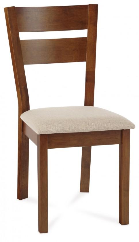 Stolička OLETTA(kaučukovník, morenie orech,poťah krémový)