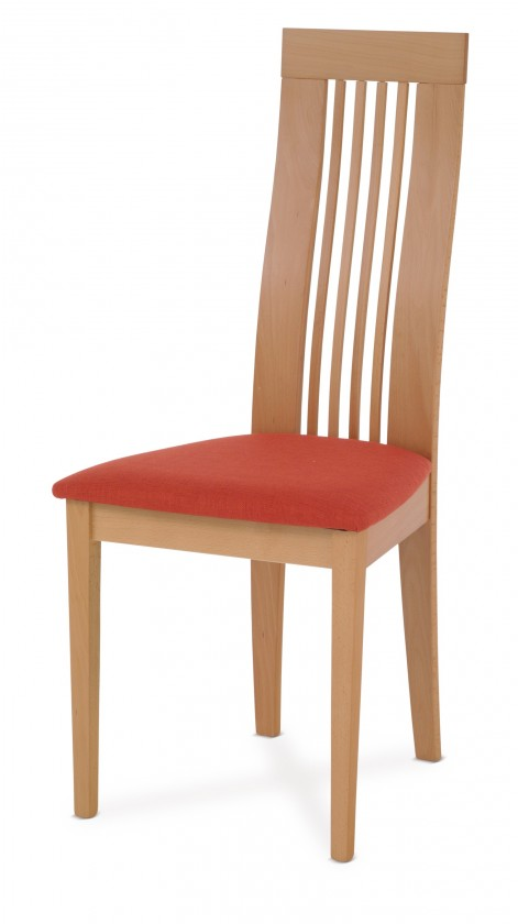 Stolička OLIVESE(buk, morenie buk,poťah terracotta)