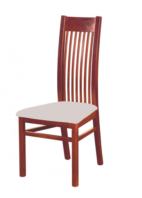 Stolička Patrycja - jedálenská stolička (drevo - orech svetlý/poťah - látka)