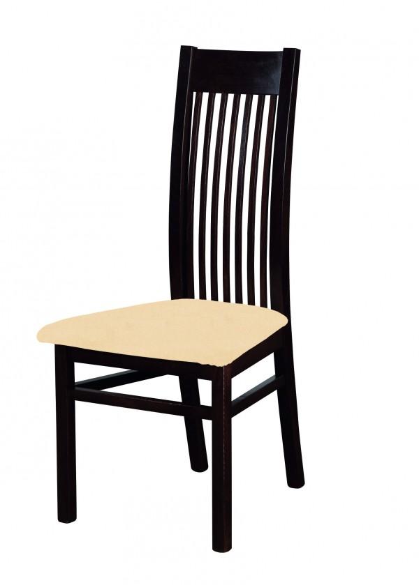Stolička Patrycja - jedálenská stolička (drevo - wenge/poťah - látka)
