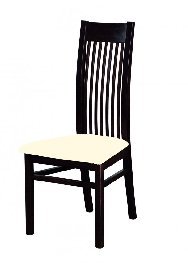 Stolička Patrycja - jedálenská stolička (drevo - wenge/poťah - syntetická koža)