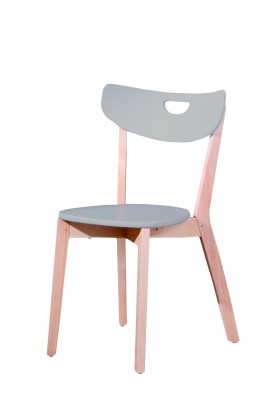 Stolička Peppi  (sivá, masiv)