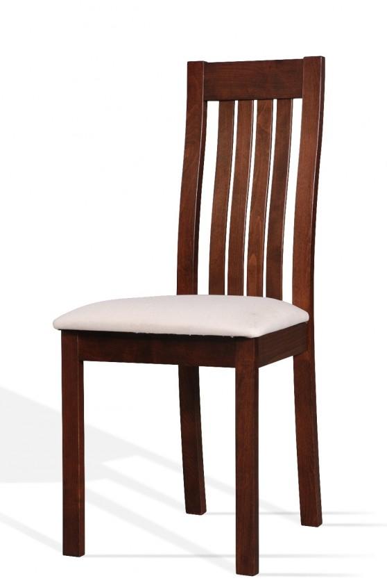 Stolička PILA(buk, morenie orech,poťah světlý)