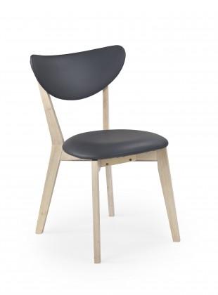 Stolička Polo - Jedálenská stolička (sivá, bielené drevo)